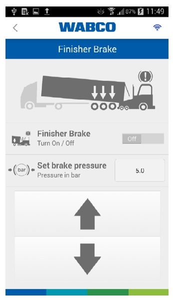 Finisher Brake – displays brake OptiLink
